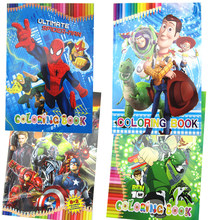 Anime toy story 4 vingadores spiderman how to train your dragon ben10 notebook coloração desenho brinquedo para crianças crianças meninos meninas(China)