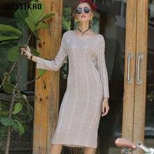 Женское вязаное платье в стиле бохо элегантное дизайнерское