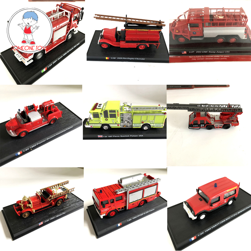 1/43 1/54 Scale Alloy Fire Truck <font><b>Model</b></font> EQ141 World Firetruck Diecast Collections Boys Gift Toys image