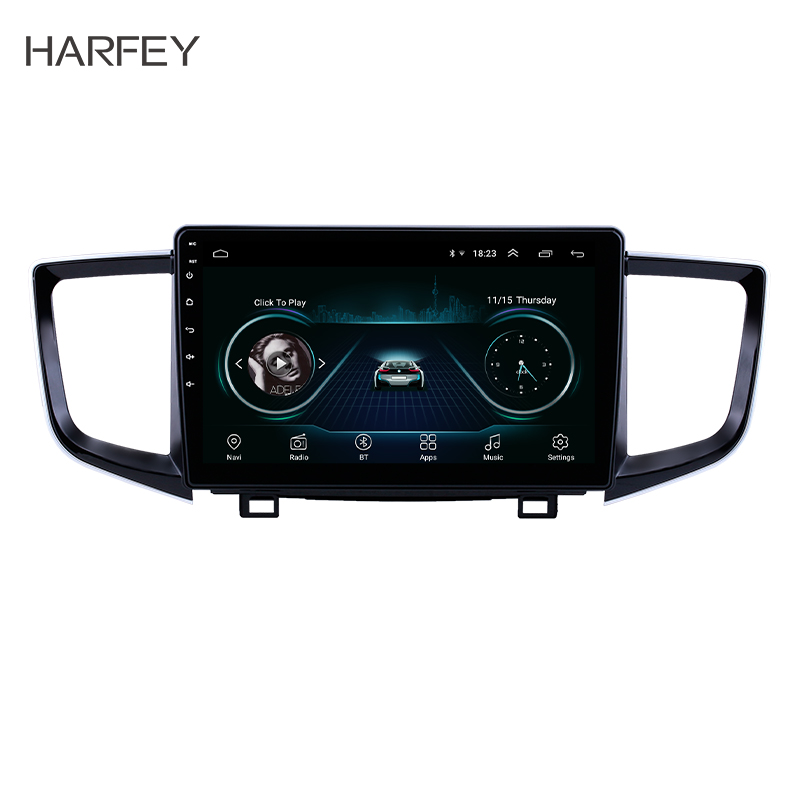 Harfey 2Din <font><b>GPS</b></font> Car Radio Android 8.1 Auto Multimedia Player Stereo <font><b>for</b></font> 2016 2017 2018 <font><b>Honda</b></font> <font><b>Pilot</b></font> support Mirror Link OBD2 DVR image