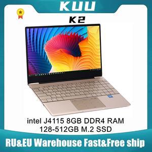 KUU Laptop Notebook 8gb Ips-Screen Intel Type-C Office Celeron J4115 512GB SSD Metal
