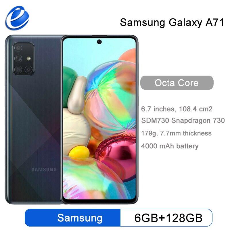 Смартфон Samsung Galaxy A71, 8 + 128 ГБ, 6,7 дюйма, 4 камеры 64 мп, 32 МП, 4500 мАч