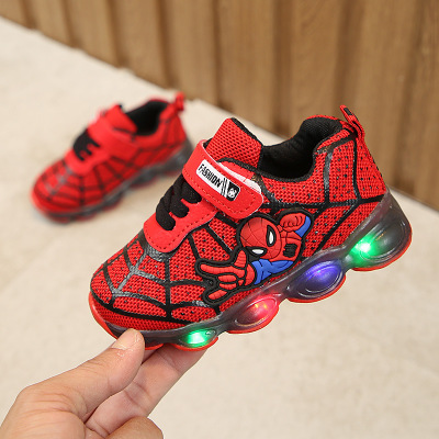 Boys Sneaker Girls Spiderman Kids Led Shoes With Lights Sneaker 2020 Spring Autumn Shoes Children Toddler Baby Girl Shoes Tenis