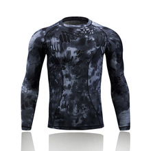 Military Army Tactical Comepression Shirt Camo Men Long Sleeve Combat Shirts Quick Dry Outdoor Hiking Hunting Camouflage T Shirt
