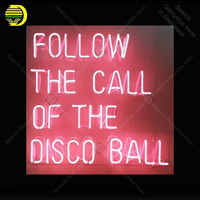 Neon Sign for Follow The Call Of The Disco Ball Express Beer Bar Club Neon Light up wall sign Neon Signs for bedRoom Letrero