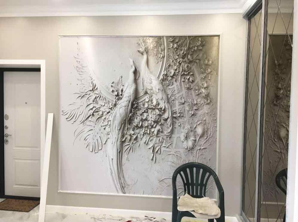 Beibehang Custom 3D pavão tridimensional em relevo papel de parede TV sofá fundo da parede de sala de estar quarto mural 3d papel de parede