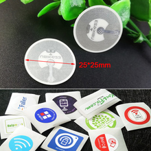 25mm White NFC Stickers Protocol ISO14443A13.56MHz NFC 213 Universal Label Tags