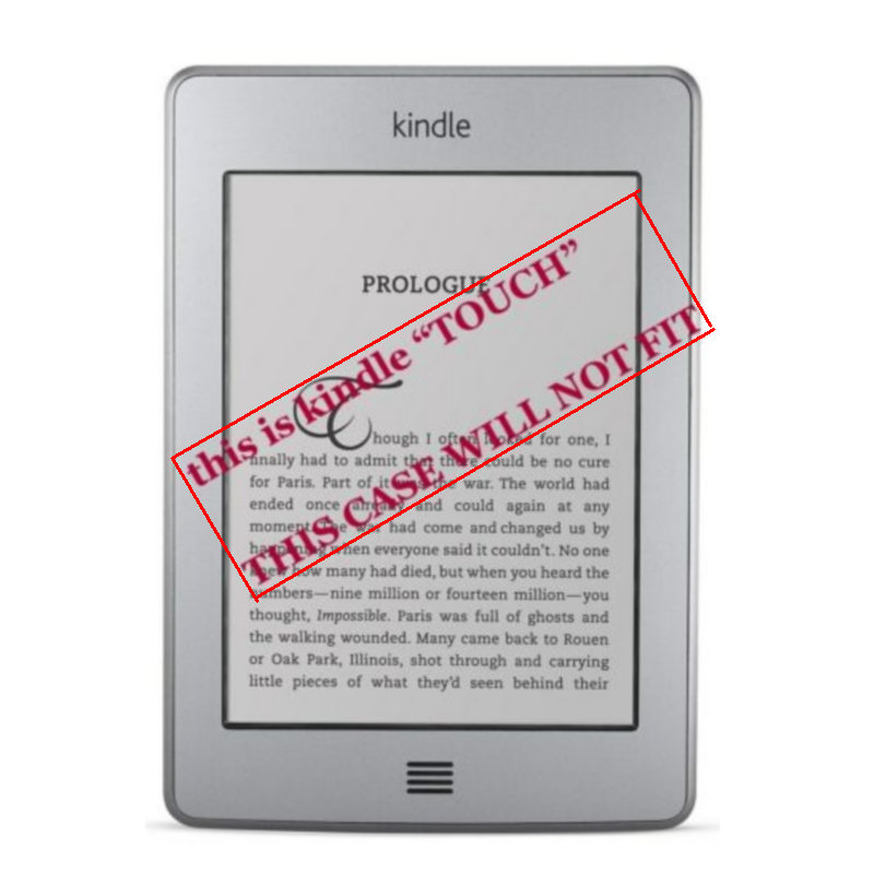"""1PC Leather Cover Case for Amazon Kindle 4/5 E-book Reader 6"""" Inch (not fit for kindle touch)-2"""