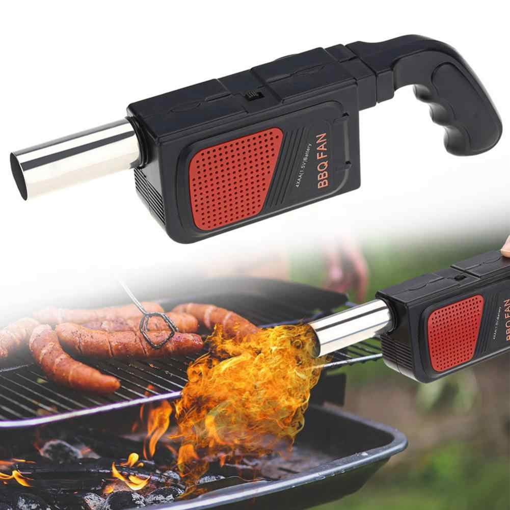 OKBY Ventilatore Elettrico-Portable BBQ Fan Air Blower for Barbecue Picnic Camping Fire Charcoal Starter