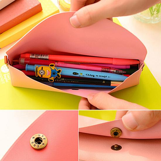 Students Pencil Case School Supplies Art Pen Bag Pouch Canvas Pen Wrap Roll Makeup Cosmetic Brush Pen Storage Stationery Student