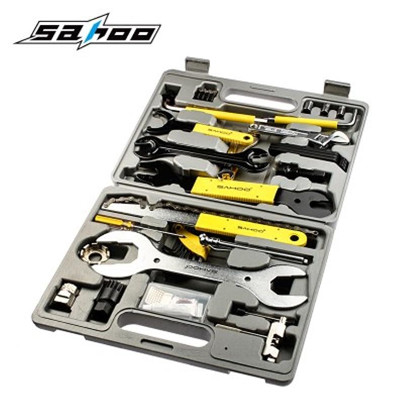 SAHOO 21275 Professional 44 Part Cycling Bicycle Tools Set Bike Repair Kit Tool  Accessories Freewheel Remover