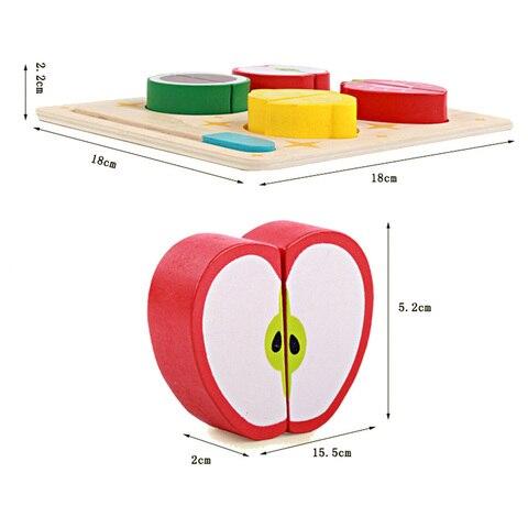 de madeira 3d cozinha cortar frutas