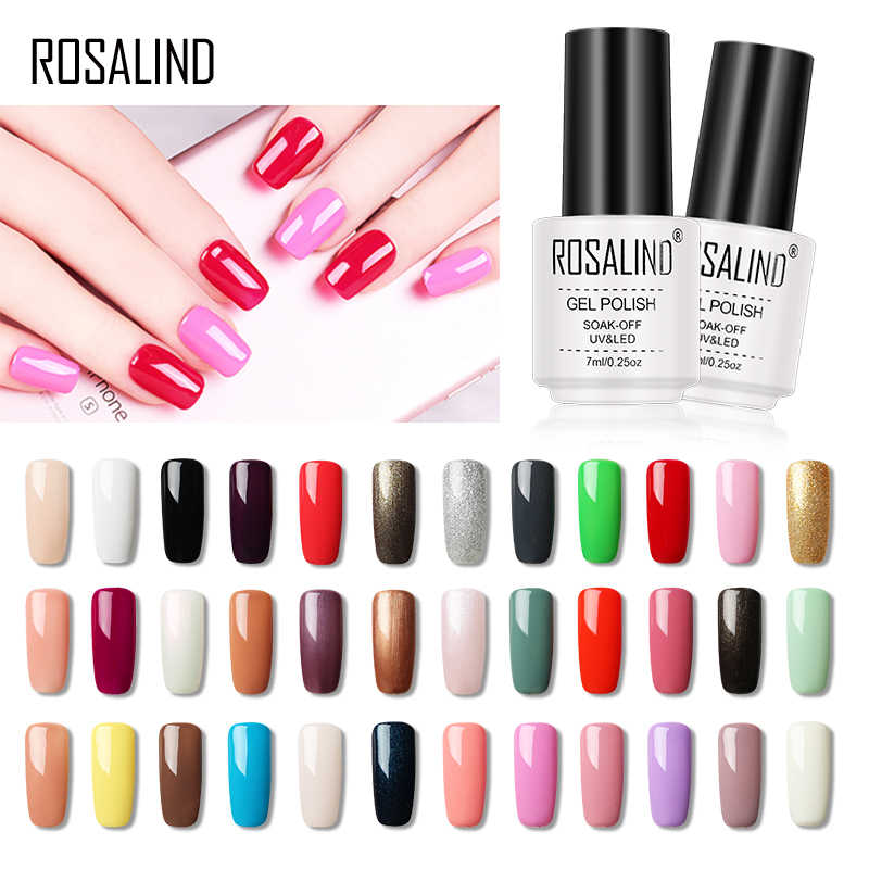 ROSALIND Gel Polish Spider Hybrid Varnish Gel Nail Polish Set Manicure Top Base All For Nails UV Semi Permanent Cuticle Primer