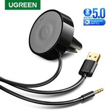 UGREEN Bluetooth 5,0 Auto Kit APTX LL Empfänger Hände Freies 3,5mm AUX Audio Adapter Dual 4,8 EINE USB auto Ladegerät 3M Basis Air Vent Clip