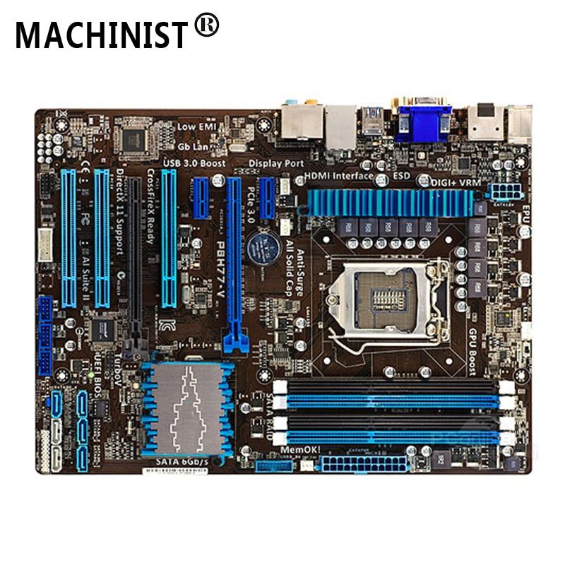 For ASUS P8H77-V Desktop motherboard MB Intel H77 LGA 1155 ATX DDR3 32GB SATA3.0 USB3.0 100% fully Tested Free shipping