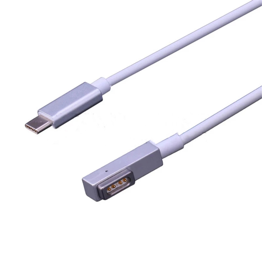 New! 180cm Magnetic USB-C Type To MagSaf* 1 2 Cable Cord For Apple Macbook Pro Air 29W 30W 61W 65W 87W 96W Charger Power Adapter
