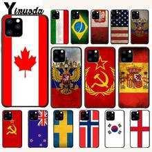 Country America Canada Brazil Russia Flag Case For Iphone 5s Se 6 6s 7 8 Plus X Xs Max Xr 11 Pro Max Mobile Phone Accessories cooking across america country comfort