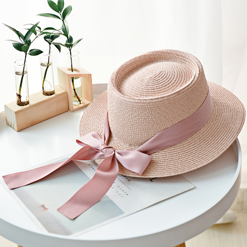 Simple Summer Wide Brim Women Straw Hat Fashion Chapeau Paille Lady Sun Hats Panama Girl Beach Hats Chapeu Feminino Caps