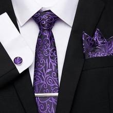 Luxury Men's 7.5 cm Print Necktie Jacquard Woven 100% Silk Men