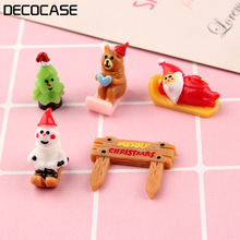 DECOCASE 30pcs Christmas Miniature Slime Charms Beads Headwear Flatback Crafts Ornaments Decoration Phone Case DIY Accessories