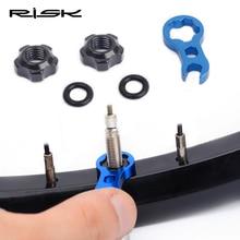 RISK дорожный горный велосипед газовый воздушный сопло шины Presta клапан сердечник гайка винт с установочным ключом Presta удлинитель