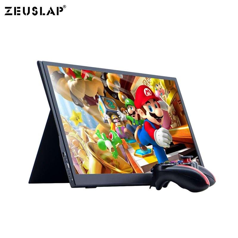 NEUE 15,6 zoll 1920*1080P FHD Ultradünne IPS Bildschirm USB C HDMI Tragbare Gaming Monitor für SCHALTER PS4 laptop Telefon Resppery PI