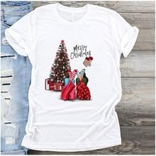 С Новым Годом футболка Рождественская tumblr графическая Футболка