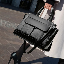 Big Leather Tote Bags for Women Handbags Luxury Female High Quality Office OL Cr