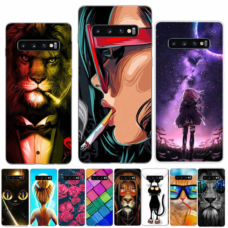 For Samsung Galaxy S10 Case Silicone TPU Soft Print Back Phone Cover For Samsung S10 Plus GalaxyS10 S 10 S10Plus Case S10E Bag