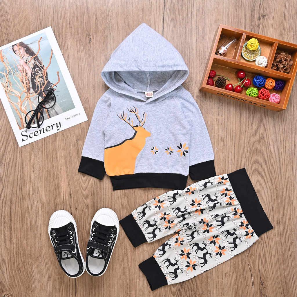 יילוד תינוקות בייבי בני בנות חג מולד ברדס קריקטורה ארוך שרוול למעלה חולצות מכנסיים תלבושות סתיו יילוד בגדי סטים