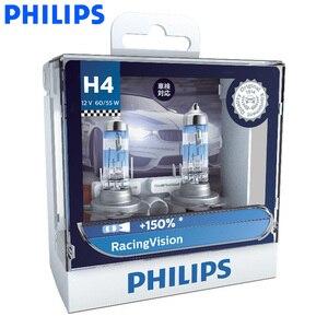 Philips H4 H7 9003 Racing Vision +150% More Brightness Auto Headlight Hi/lo Beam Halogen Lamp Rally Performance ECE, Pair