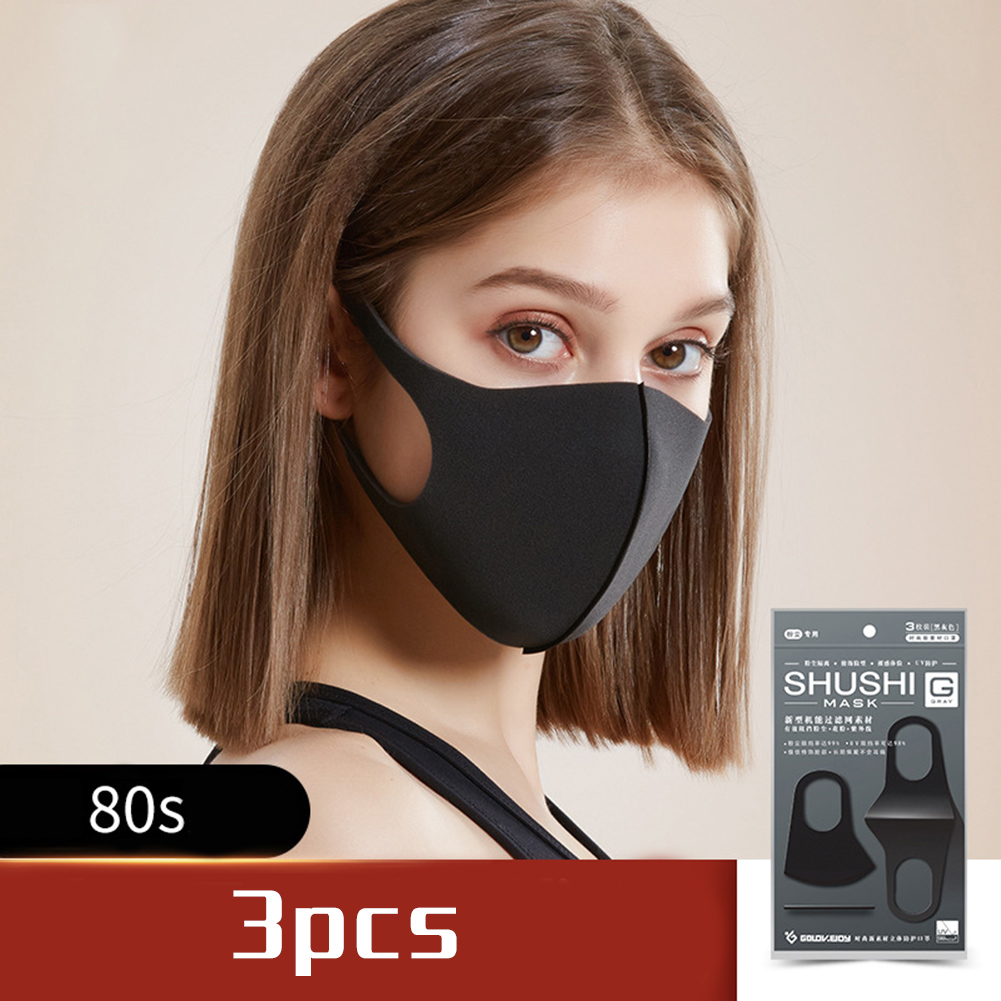 3PCS Washable Reusable Anti Air Pollution Face Cover Mouth Muffle Breathable