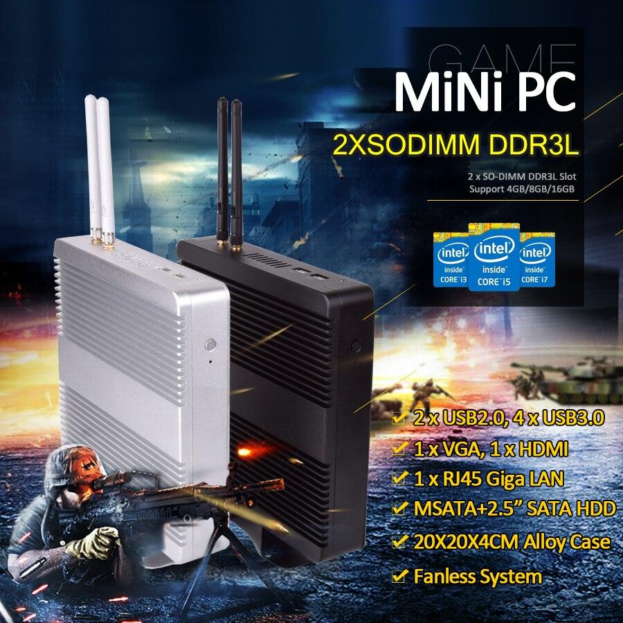 Eglobal Small Desktops Onboard Intel Celeron 1007u DDR3L Up To 16GB Desktop Pc Computer LAN VGA HD 6USB Mini Pc Win10 For Home