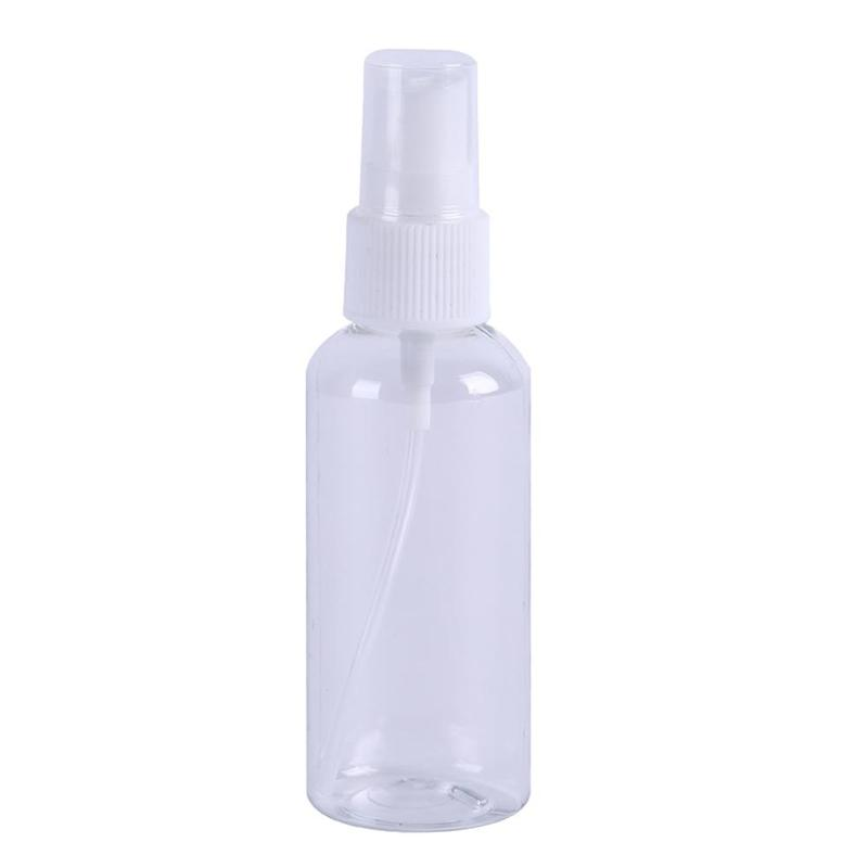 30/50/60ml Transparent Empty Spray Bottles Plastic Mini Refillable Container Non-toxic Travel Empty Cosmetic Containers Bottles