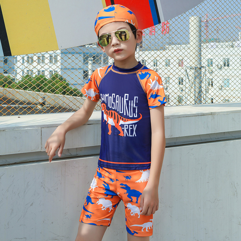 New Style CHILDREN'S Swimwear BOY'S Girls Split Type Long Sleeve Sun-resistant Warm Baby Big Boy Bubble Hot Spring Swimwear