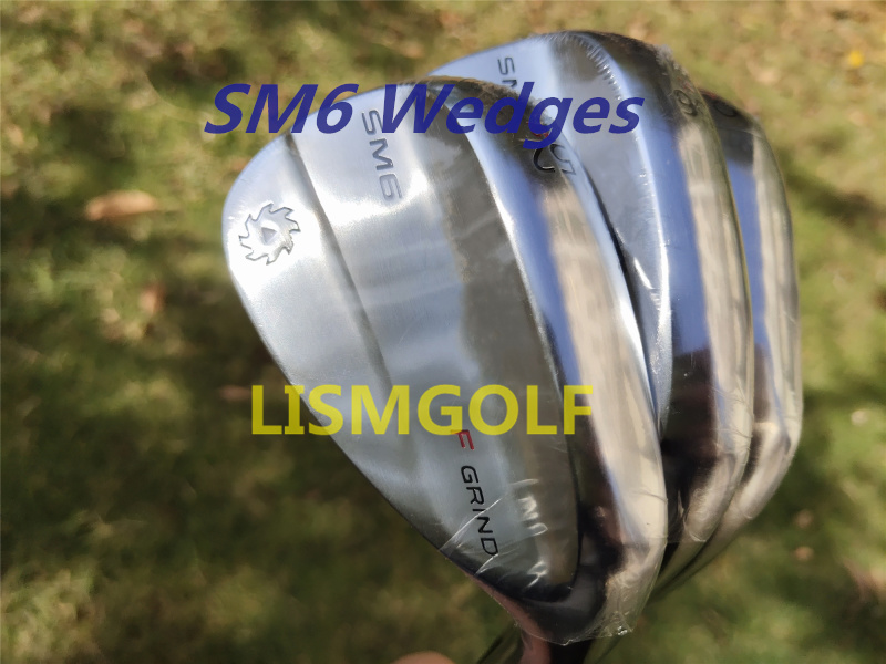 Quality SM6 Wedges Vokey Design Golf Clubs Sand Lob Wedge52/56/60 Degrees Steel Shaft S200