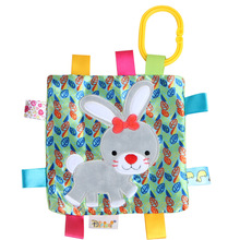 New Animal Can Enter The Hand-Scratched Square Towel Toy Soft Tooth-Toothed Gum Paper Color Label Baby Comfort