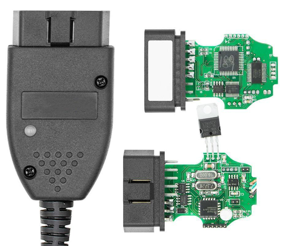Автомобильный диагностический OBD2 кабель VAG для поддержки Kline и CAN BUS до 2019 19,6 Английский Голландский Польский немецкий Atmega162