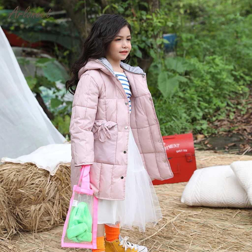 ARLONEET/зимние однотонные теплые куртки с капюшоном на пуговицах для девочек; верхняя одежда; пальто; одежда для малышей; детская утепленная одежда; Верхняя одежда; пальто; одежда