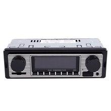 Coche Bluetooth MP3 jugador Vintage coche ISO Radio FM Radio recibidor compatible con entrada Aux USB/lector de tarjetas SD/MMC + Control remoto