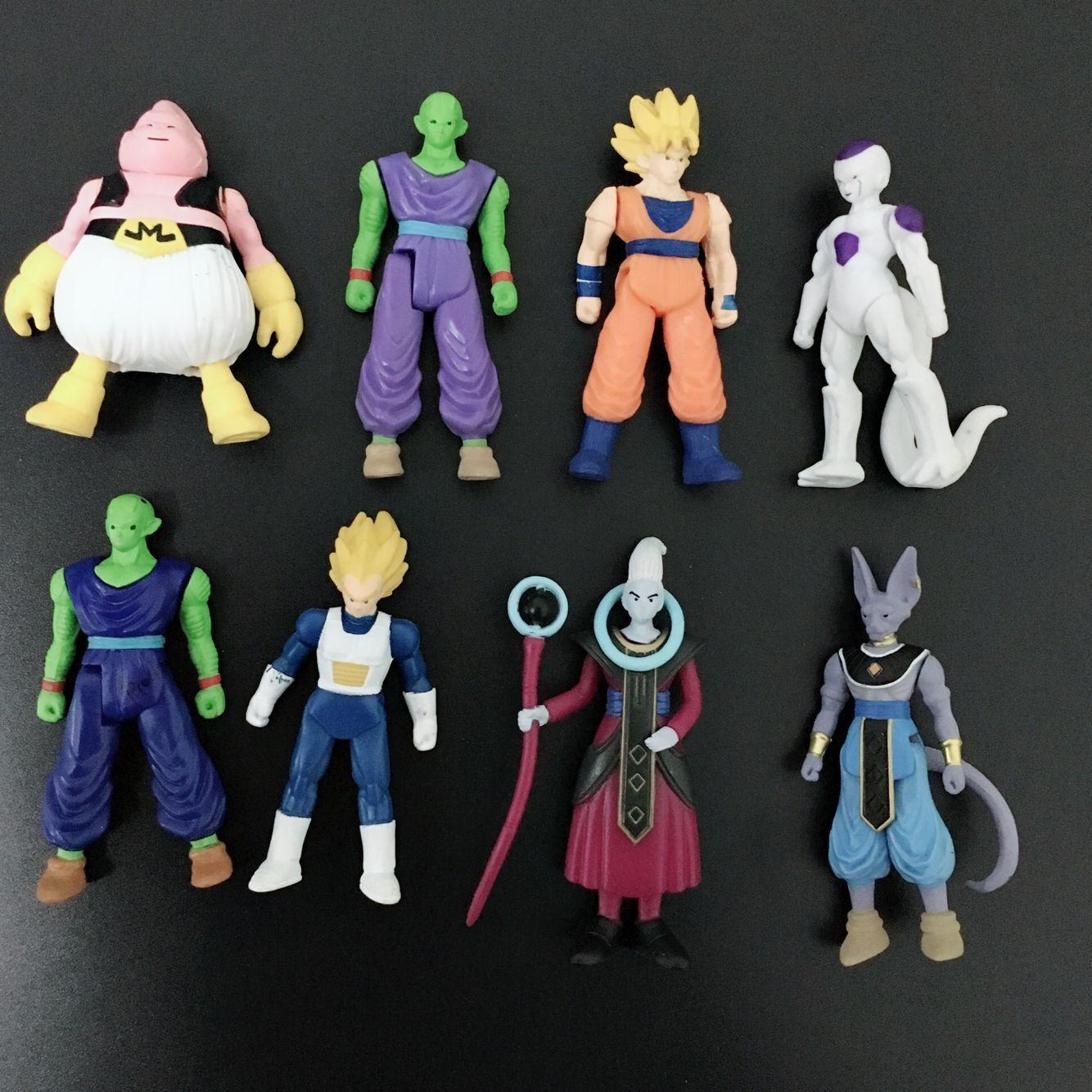 8 шт./лот фигурки Dragon Ball Z Сон Гоку Гохан Готен Вегета плавки Bulma Pan Chichi Piccolo Krillin аниме модель DBZ игрушки