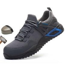 Niezniszczalne buty Ryder mężczyźni obuwie robocze stalowe Toe Air Work antyprzebiciowe buty ochronne antypoślizgowe lekkie oddychające sneakersy