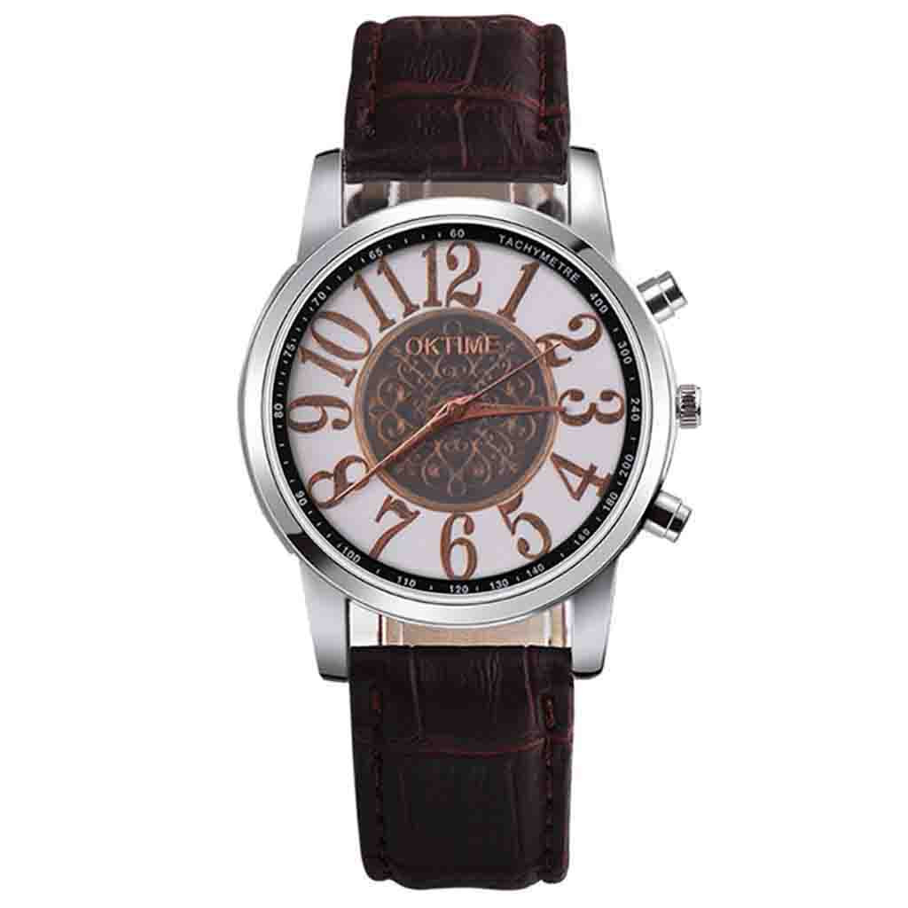 Fashion OTOKY watch Men's Creative watches Student Quartz Watch luxury leather Bracelet watch ladies Gift for dear friends