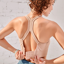 Mulheres push up sem costura sutiã esportivo treino feminino esporte superior colheita fitness ativo wear para yoga ginásio sutiã feminino