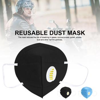 2 5 sztuk maska przeciw zanieczyszczeniom twarzy wielokrotnego użytku maska Respirator z PM2 5 filtry do Anti-fog żaden z twoich Anti-bakterie losowy kolor tanie i dobre opinie Szybkie suche