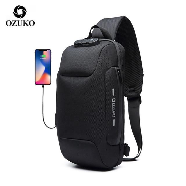 2020 New Multifunction Crossbody Bag for Men Anti-theft Shoulder Messenger Bags Male Waterproof Short Travel Chest Bag Pack