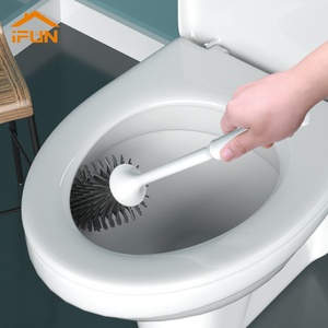 Image 1 - iFun Toilet Brush & Head Holder Cleaning Brush For Toilet Wall Hanging Household Floor Cleaning Bathroom Cleaning Tool
