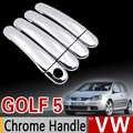 Para VW Golf 5 MK5 moldura de cubierta de manija cromada Set para Volkswagen Golf V conejo 1K 2004-2009 GTI accesorios para coche pegatina estilo de coche