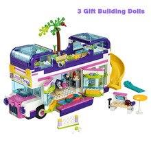 Engraçado estrela livi casa construção carro ônibus compatível amigo para meninas figuras tijolos brinquedos educativos crianças presentes para