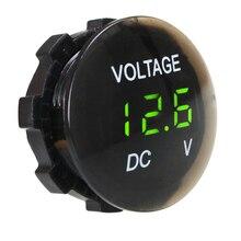 Водонепроницаемый Вольтметр для мотоциклов, измеритель напряжения со светодиодным дисплеем, 12-24 В
